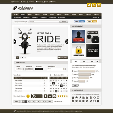 exquisite web design eps template vector