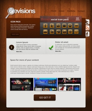 exquisite web templates 01 psd layered