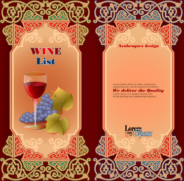exquisite wine labels template vector design