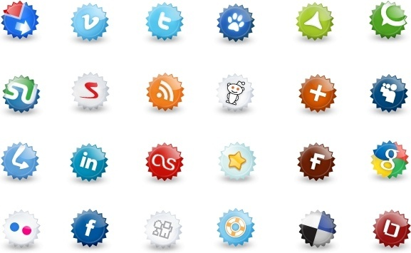 Extended set of social icons icons pack