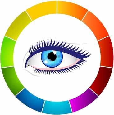 Eye and color wheel