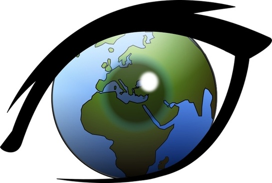 Eye can see the world Europe, Africa and Middle East (from