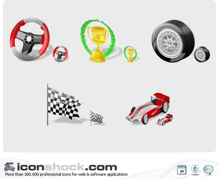 F1 Free vectors icons pack
