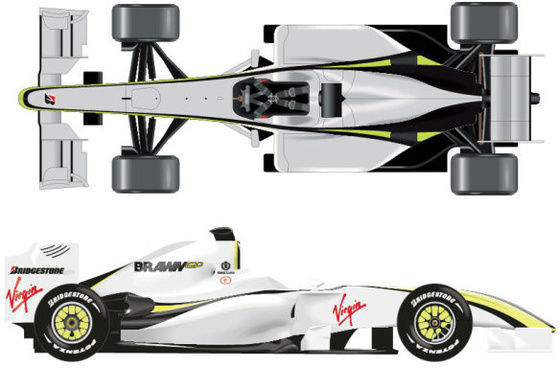 f1 racing model elements vector