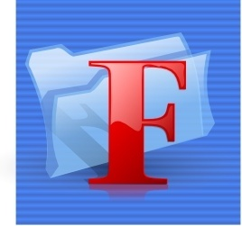 F Folder Icon clip art