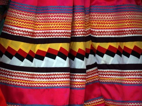 fabric colorful zigzag