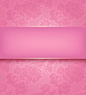 fabric of floral patterns design vector set
