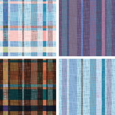 fabric seamless patterns design set
