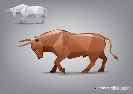 facade body animal models buffalo vector