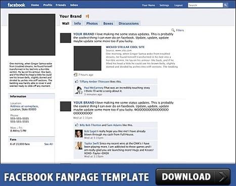 Facebook Fanpage Free PSD Template