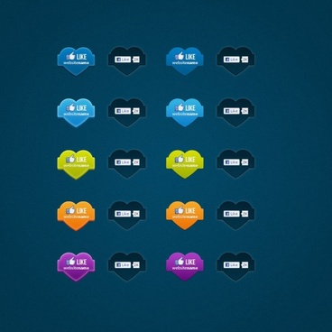 facebook like button icon psd