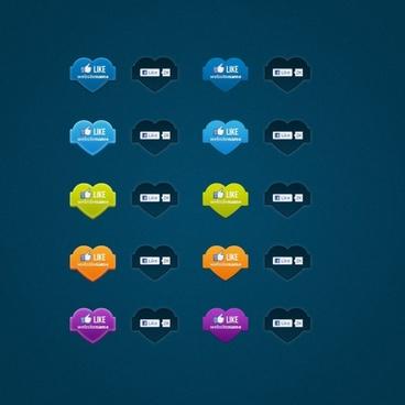 facebook like button icon psd