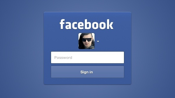 Facebook Login UI