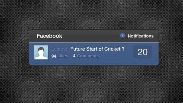 Facebook Notify Widget in HTML/CSS