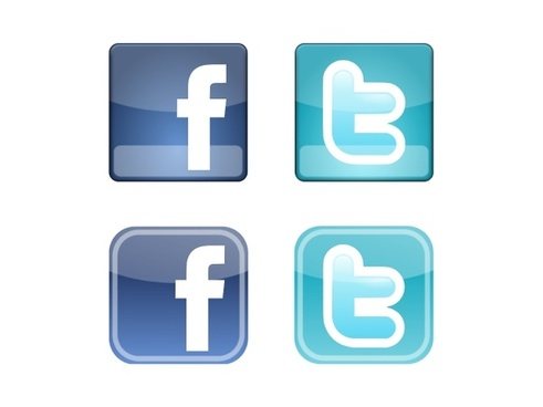 Facebook & Twitter Icons