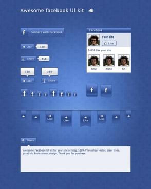 Facebook UI Kit