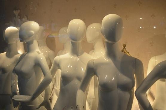 faceless mannequins