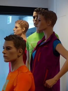 faces human mannequins