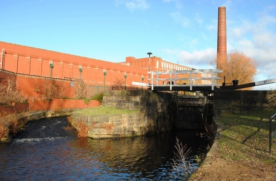 factory and canal