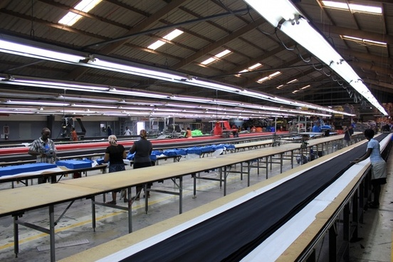 factory assembly line at port au prince haiti