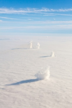 factory chimneys and inversion