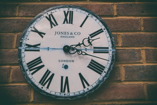 faded clock