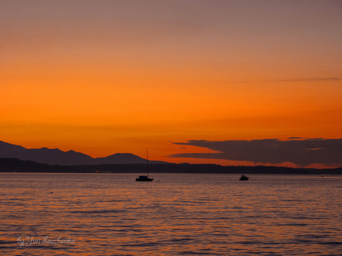 faded sunset