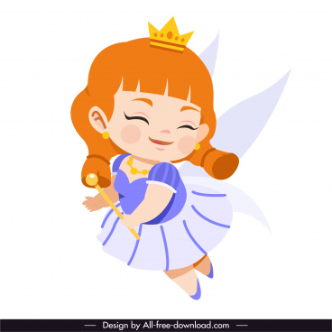 fairy character icon cute cartoon character sketch