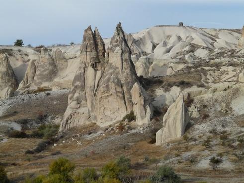 fairy chimneys rock formations tufa formations