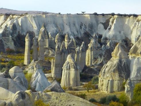 fairy chimneys tufa rock formations