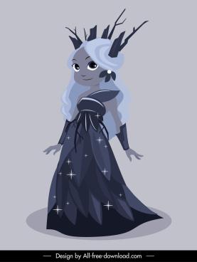 fairy icon cute girl sketch sparkling cartoon design