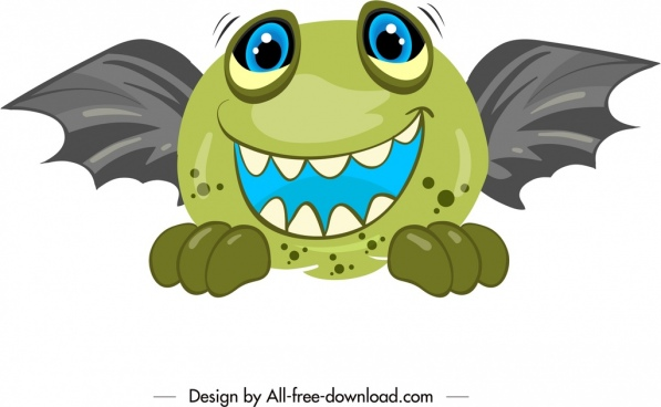 fairy monster animal icon cartoon character sketch