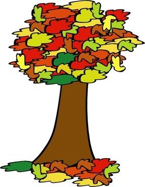 Fall Coloured Tree clip art