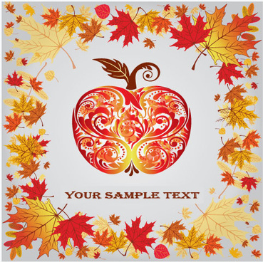 fall leaves vector background