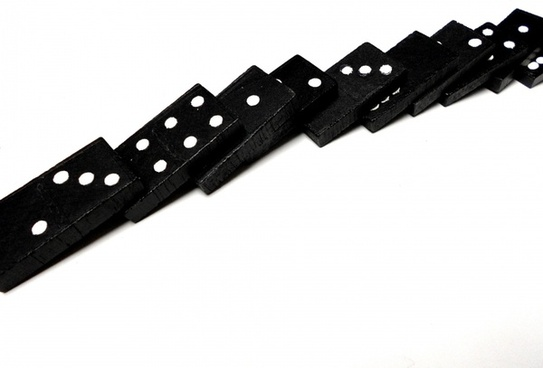 fallen domino line