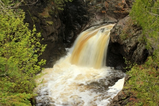 falls and pool at cascade river state park minnesota