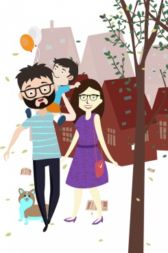 Happy Family Drawing Free Vector Download 95 210 Free Vector For