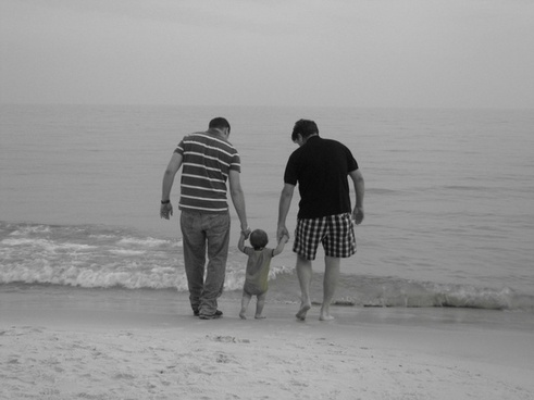 family father beach