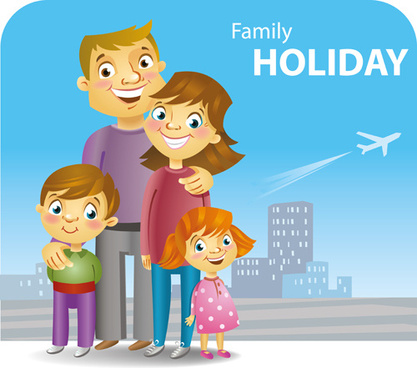 family holiday travel background