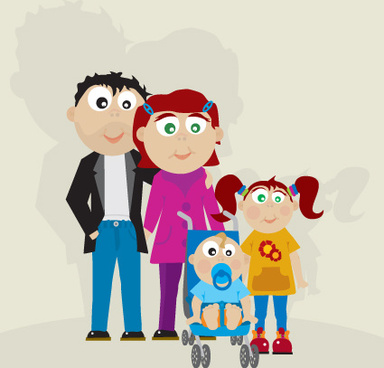 family member design elements vector
