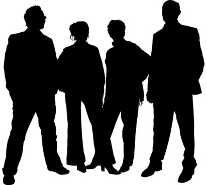 Family people silhouettes