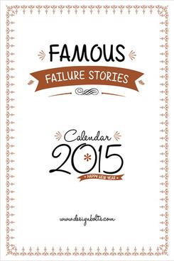 famous failure stories free printable calendar 2015