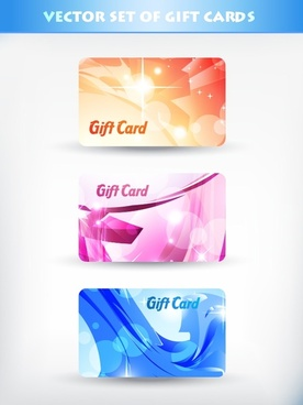 fancy gift card template vector