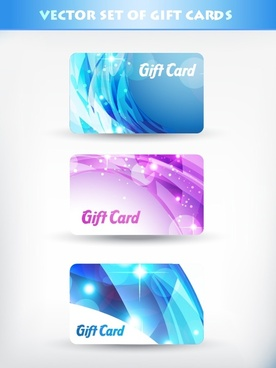 fancy gift card template vector flow line card starlight