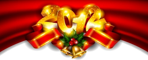 fancy new year background vector