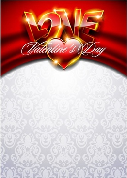 fancy valentine background 03 vector