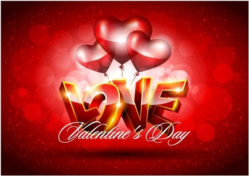 fancy valentine background 04 vector