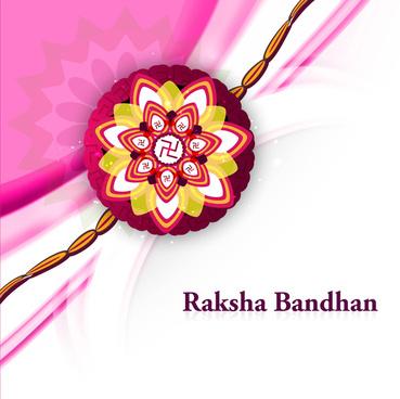 fantastic raksha bandhan colorful background vector