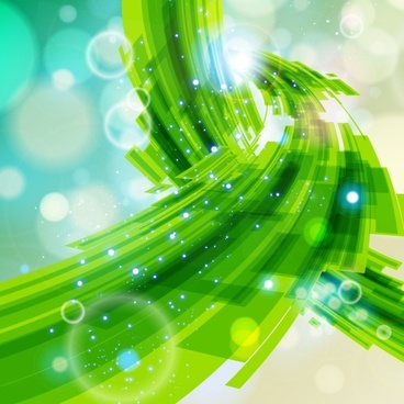 technology background sparkling modern dynamic green bokeh decor