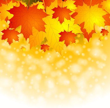 fantasy autumn leaves art background
